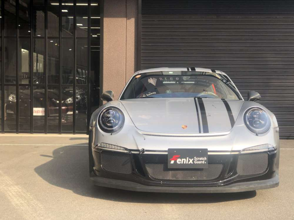 Porsche GT3RS Fenix Scratch Guard headlight protectionfilm